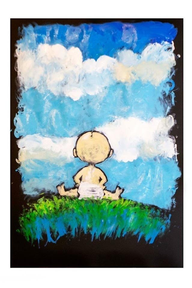 """08/05/2019 inaugurazione della mostra """"C'era una volta... giocando con le favole. Disegni, bambini, diritti""""  - Massimiliano Frezzato illustratore ed autore di fumetti durante la sua performance"""